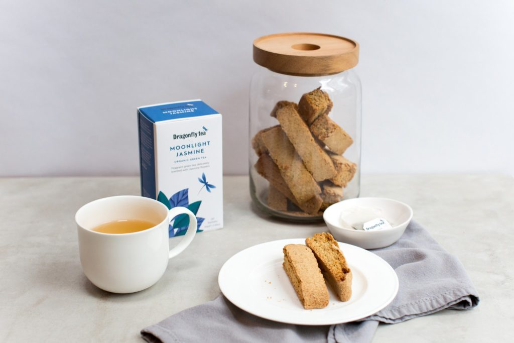 Moonlight Jasmine Tea Biscotti