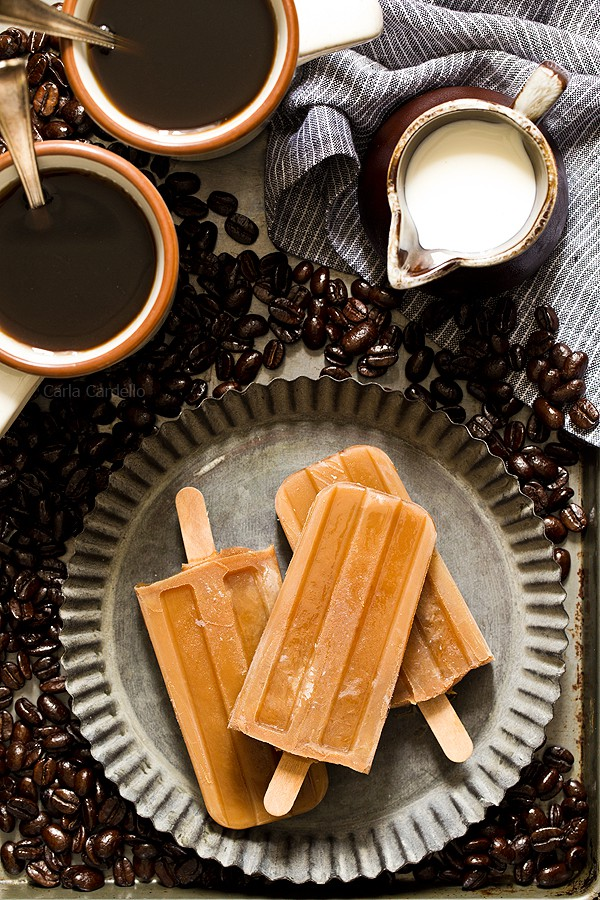 homemade coffee ice pops